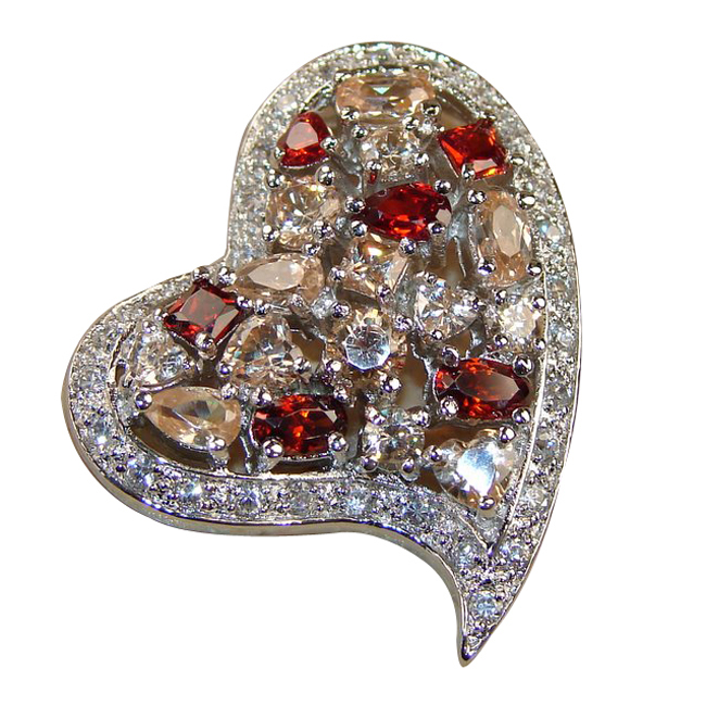 <b>Product details</b>,,Material : Sterling Silver,Main stone : Garnet,Other stones : White Topaz, Honey Topaz,Main color : multicolor